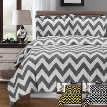 Chevron-Combed-Cotton-Duvet-Cover-Set