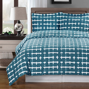 Blue/White-Norwich-Printed-100%-Cotton-3PC-Duvet-Cover-Set