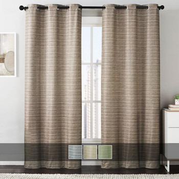 Manor Printed Thermal Grommet Room Darkening Curtain