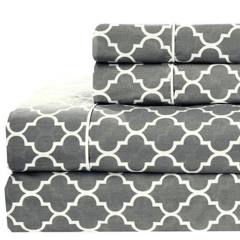 100%-Cotton-Percale-Meridian-Sheets-Set-Gray