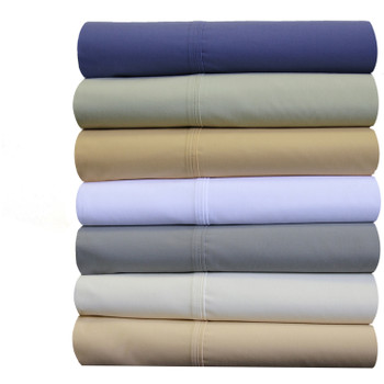 Split-Cal-King-Sheets-Cotton Percale-Bed-Sheet Set