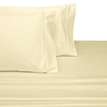 Ivory Soft Extra Long Twin Bed Sheets 100%Cotton 600 Thread Count Solid
