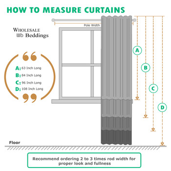 How to measure Curtains- Graphic