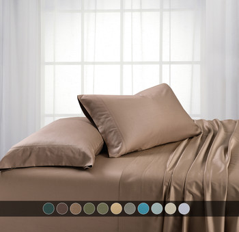 Taupe-Split-California-King-Bamboo-Viscose-600-Thread-count-Bed-Sheet-Set