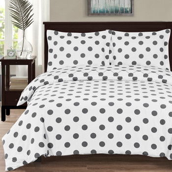 100%-Cotton-Percale-Polka-Dots-Duvet-Cover-Set