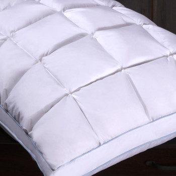 Pleated Goose Down Pillow Firm Neck Support-Closeup