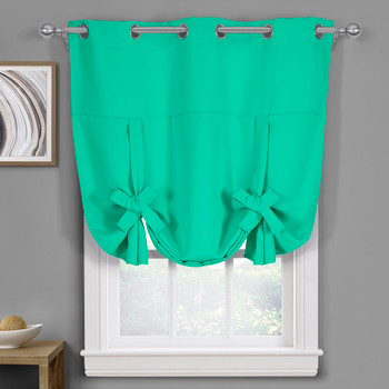 Turquoise-Ava-Blackout-Weave-Curtains-Grommet-Tie-Up