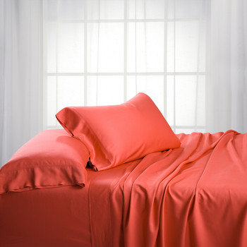 Coral-Luxury California King Bamboo Cotton Bed Sheets