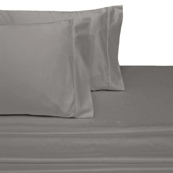 Gray-Luxury-California-king-Cotton-Sateen-Sheets-600-Thread-Count-Solid