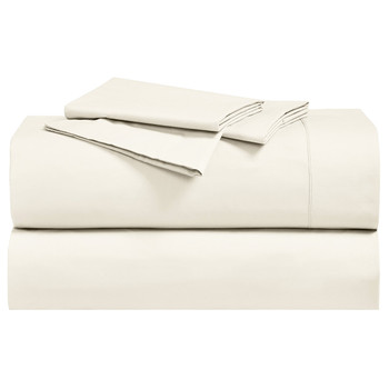 Ivory-California-King-Percale-Cotton-Sheets