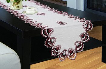 Crest Luxury Embroidered Table Runner