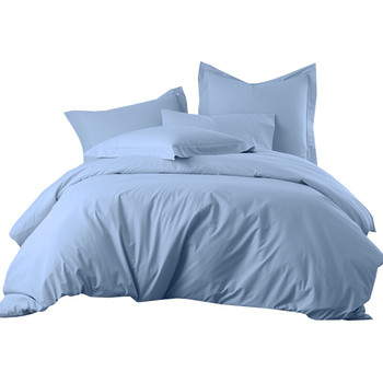 Percale Egyptian Cotton 300 Thread Count Duvet Cover Blue