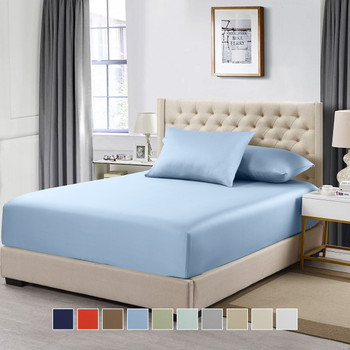 King Size Solid Fitted Sheet 100% Cotton 600 Thread Count