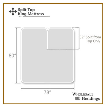 Top Split King (Flex Head Split King ) Hybrid Bamboo Sheet Set-Diagram