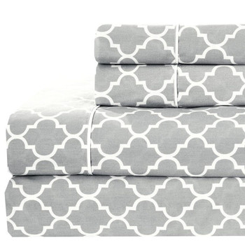 Split Queen Meridian Sheet Set Gray
