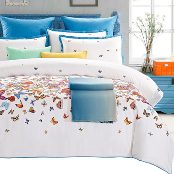 Butterfly 7 Piece Cotton Duvet Cover Set