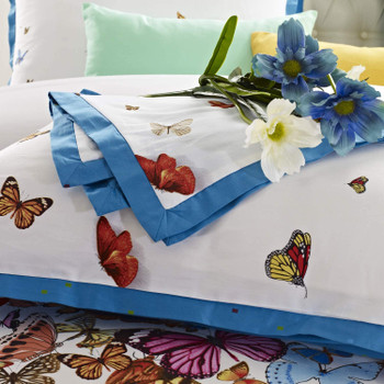 Butterfly duvet cover set close up