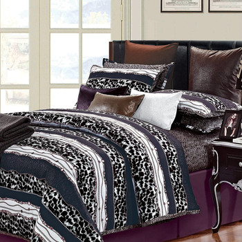 Passionate 7 Piece Cotton Queen Duvet Cover Set