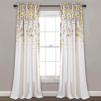 Weeping Flowers Room Darkening Curtain Panel Pair