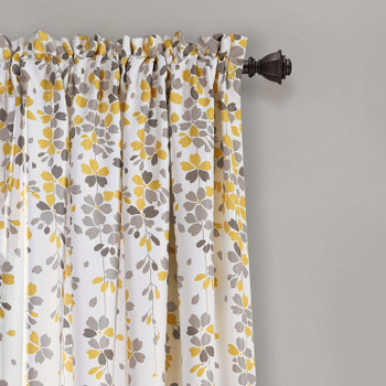 Weeping Flowers Room Darkening Curtain Panel Pair details