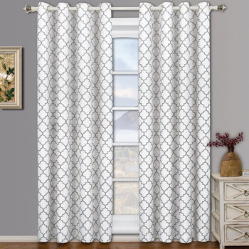 Meridian White Room Darkening Curtain