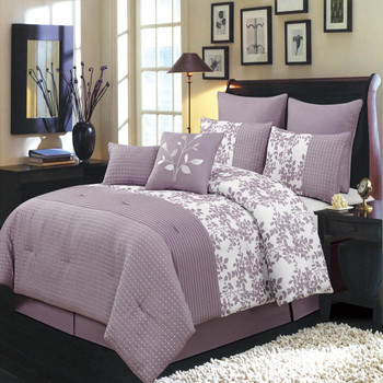 12-Piece-Bliss-Purple-Bed-in-a-Bag-Bedding-Set