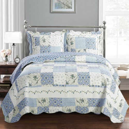 Brea Greenland Fashions Antique Quilted Coverlet Set / Detailed Image