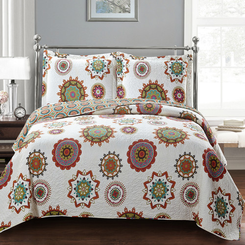 Warm Julia Fashion Floral Design Quilt Set Oversized Lightweight Mini Sets Image