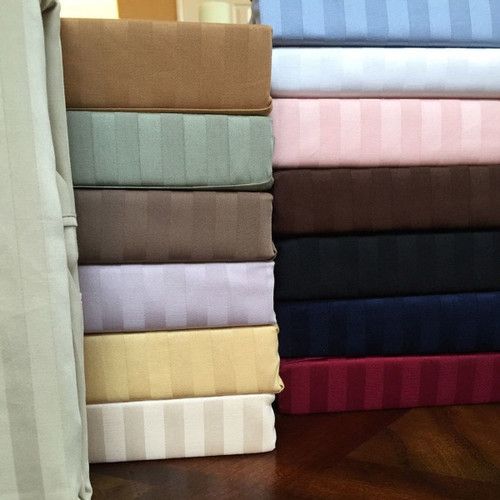 Sateen-Stripe- Microfiber-Bed-Sheet-Sets