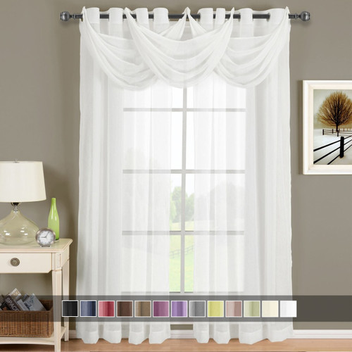 White-Abri-Grommet-Crushed-Sheer-Curtain-Panel-Single