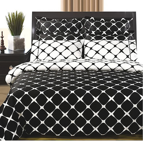 Bloomingdale-Black-White-100%-Cotton-8-Piece-Duvet-Cover-Sets