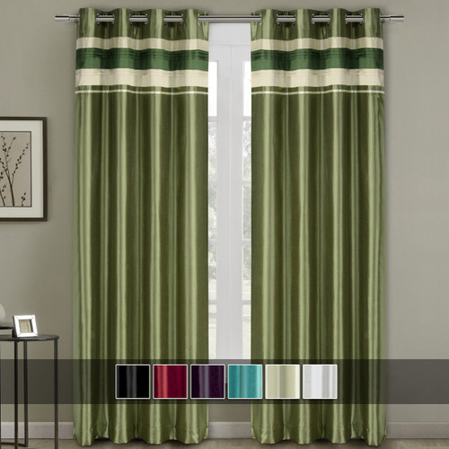 Milan Lined Blackout Curtains with Grommets Single Panel with Colors Available