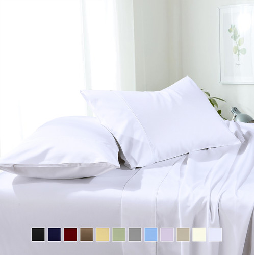 Soft & Wrinkle-Free Split Adjustable King Sheets 100% Easy Care Microfiber