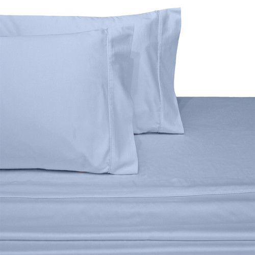 Pair of Pillowcases 100% Cotton 450 Thread Count-Blue
