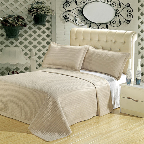 Linen-Checkered-400TC-Egyptian-cotton-Coverlet-Set