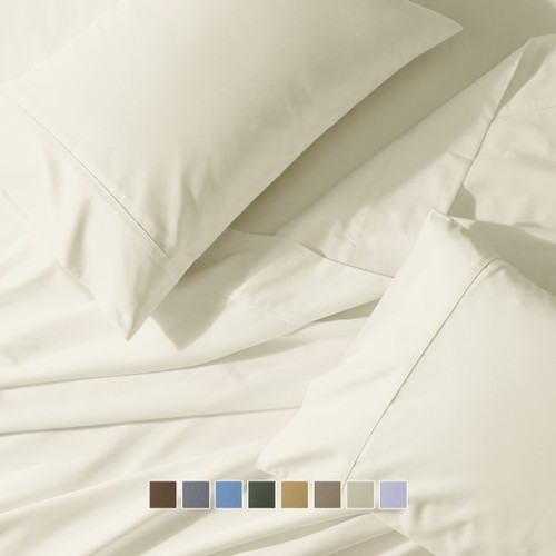 Attached Waterbed Sheet Set 650 Thread Count Solid Sateen