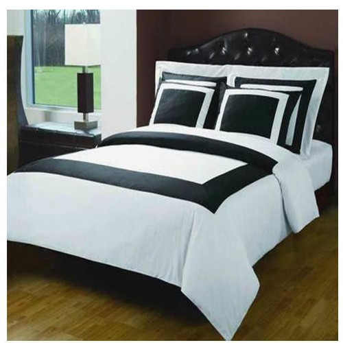 Black/White-10-Piece-Hotel-Cotton-Down-Alternative-Bed-in-a-Bag