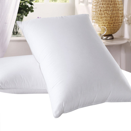 Goose-Down-Pillows-600-Thread-Count-Medium-Firm-Gusset-Neck-Support-Pillow