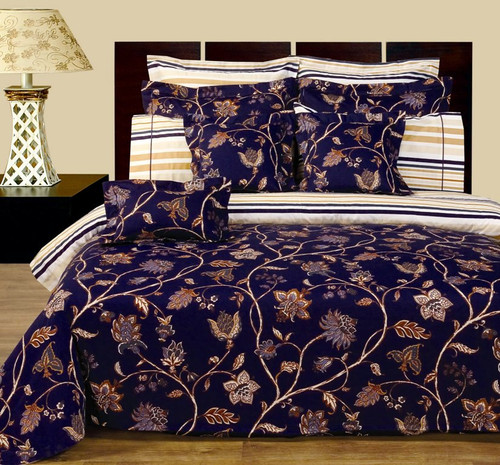 Lilian-11-Piece-Bed in a Bag-100%-Cotton-Reversible-Bedding-Set-Front-Side