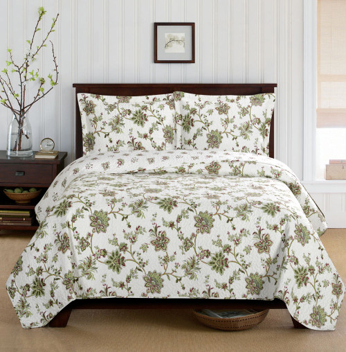 Carrie Oversized Quilt Set /Garden Floral Design Spring Collection
