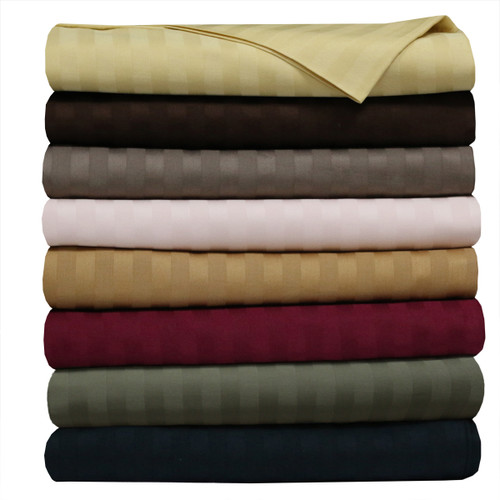 Royal 500 Thread Count 100% Cotton Sheet Sets Striped