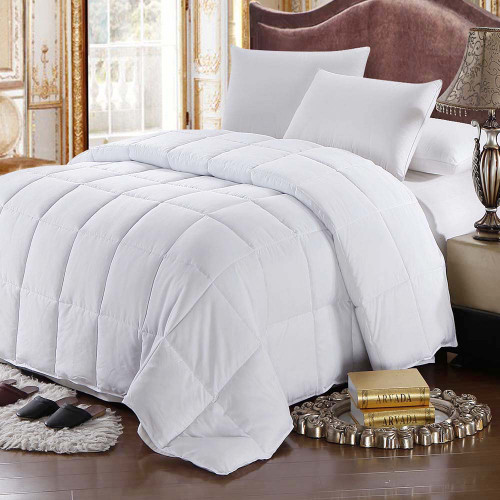 White-Goose-Feather-down-Cotton-Comforter