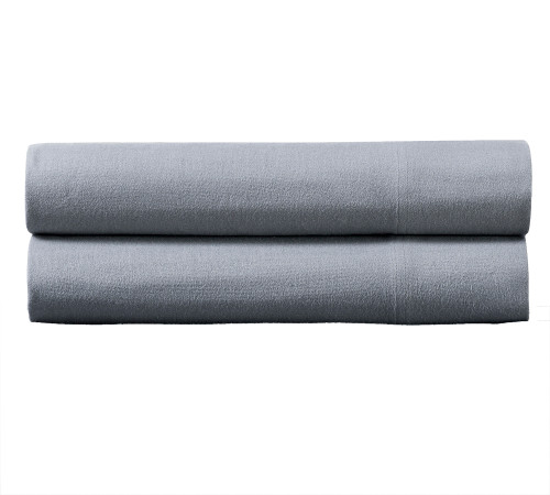 Gray-100%-Cotton-Flannel-Pillowcase-Sets-Pair
