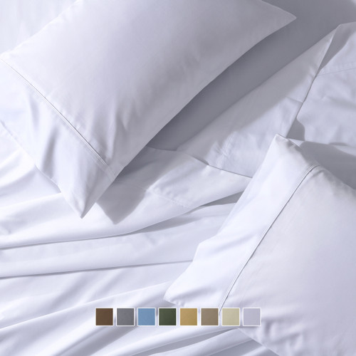 Wrinkle Resistant Adjustable Split Top King Sheets 650 Thread Count