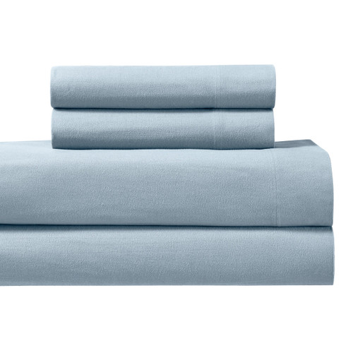 Blue-California-King-Flannel-Sheets-Ultra-Soft-Warm-Cotton