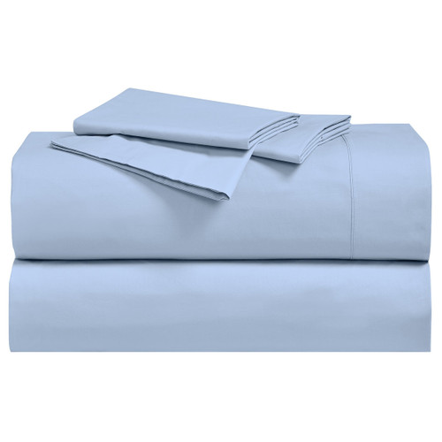 Blue-California-King-Percale-Cotton-Sheets