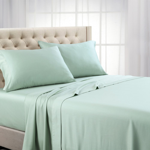 Sea Top Split Calking Eucalyptus 100% Woven Tencel Lyocell 600TC Sheet Set