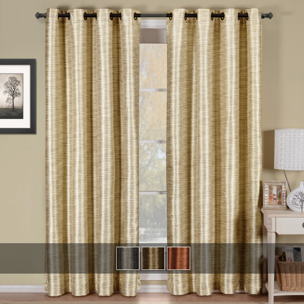 Geneva Lined Energy Saving Black-Out Grommet Curtain Panel Single Image With Colors