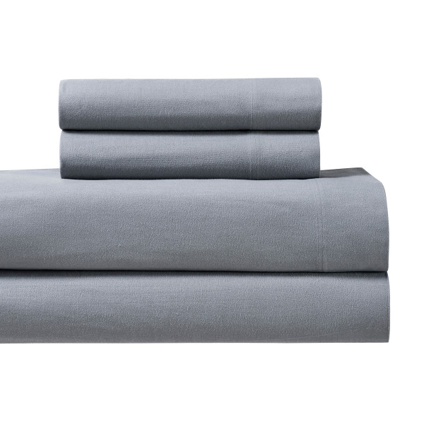 Gray-170GSM-Heavyweight-Cotton-Flannel-Sheets