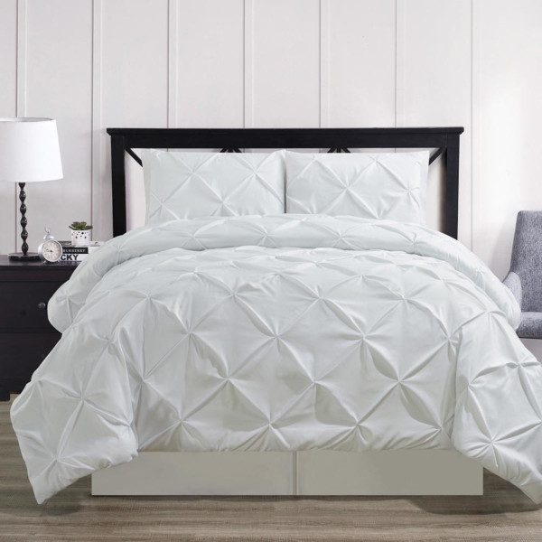 White-Oxford-Luxury-Soft-Pinch-Pleated-Comforter-Set